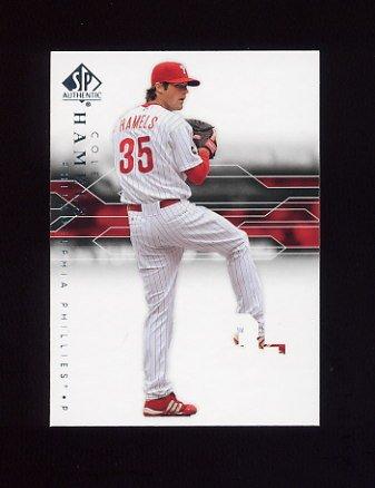 2008 SP Authentic Baseball #049 Cole Hamels - Philadelphia Phillies