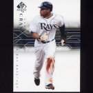 2008 SP Authentic Baseball #046 Carl Crawford - Tampa Bay Rays