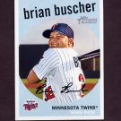 2008 Topps Heritage Baseball Black Back #538 Brian Buscher - Minnesota Twins