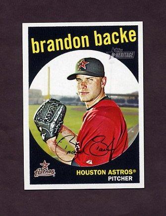 2008 Topps Heritage Baseball Black Back #514 Brandon Backe - Houston Astros