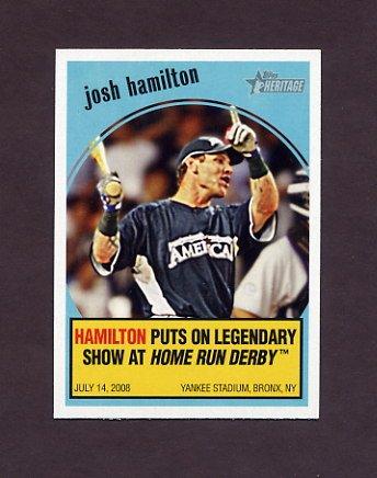 2008 Topps Heritage Baseball 2008 Flashbacks #FB10 Josh Hamilton - Texas Rangers