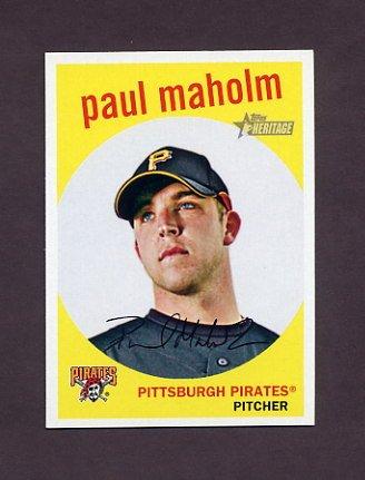 2008 Topps Heritage Baseball #674 Paul Maholm - Pittsburgh Pirates