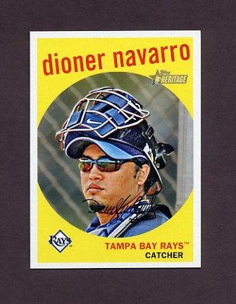 2008 Topps Heritage Baseball #660 Dioner Navarro - Tampa Bay Rays