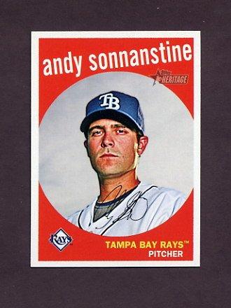 2008 Topps Heritage Baseball #644 Andy Sonnanstine - Tampa Bay Rays