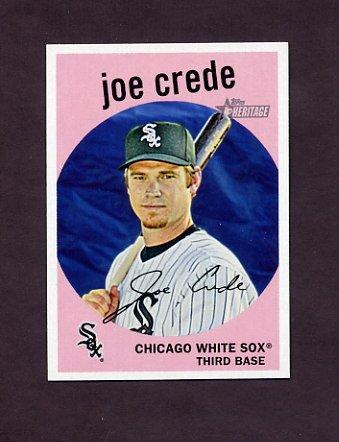 2008 Topps Heritage Baseball #640 Joe Crede - Chicago White Sox