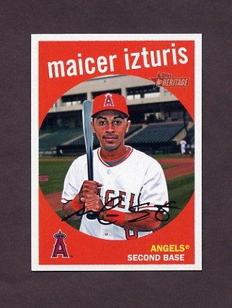 2008 Topps Heritage Baseball #635 Maicer Izturis - Anaheim Angels