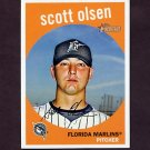 2008 Topps Heritage Baseball #624 Scott Olsen - Florida Marlins