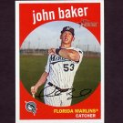 2008 Topps Heritage Baseball #622 John Baker RC - Florida Marlins