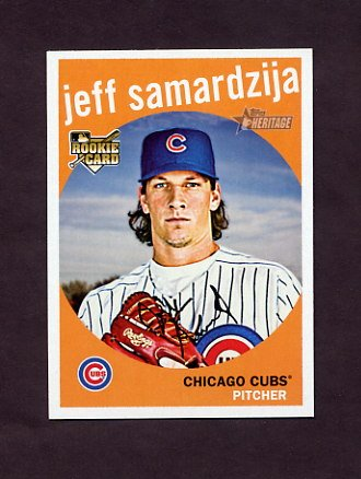 2008 Topps Heritage Baseball #621 Jeff Samardzija RC - Chicago Cubs