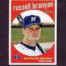 2008 Topps Heritage Baseball #614 Russell Branyan - Milwaukee Brewers