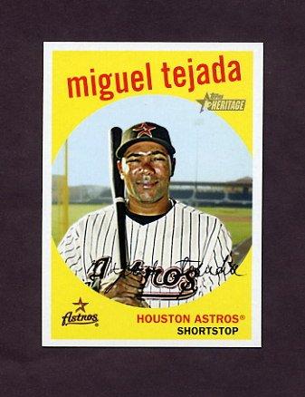 2008 Topps Heritage Baseball #600 Miguel Tejada - Houston Astros