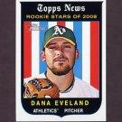 2008 Topps Heritage Baseball #565 Dana Eveland - Oakland A's