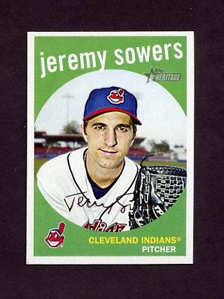 2008 Topps Heritage Baseball #549 Jeremy Sowers - Cleveland Indians