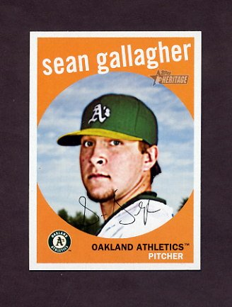 2008 Topps Heritage Baseball #544 Sean Gallagher - Oakland A's