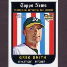 2008 Topps Heritage Baseball #543 Greg Smith RC - Oakland A's
