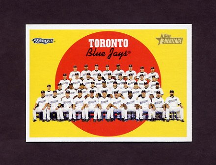2008 Topps Heritage Baseball #537 Toronto Blue Jays / Checklist Card