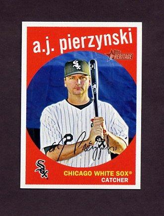 2008 Topps Heritage Baseball #536 A.J. Pierzynski - Chicago White Sox