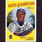2008 Topps Heritage Baseball #535 Curtis Granderson - Detroit Tigers