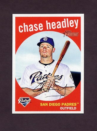 2008 Topps Heritage Baseball #505 Chase Headley - San Diego Padres