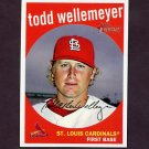 2008 Topps Heritage Baseball #504 Todd Wellemeyer - St. Louis Cardinals