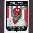 2008 Topps Heritage Baseball #503 Johnny Cueto RC - Cincinnati Reds