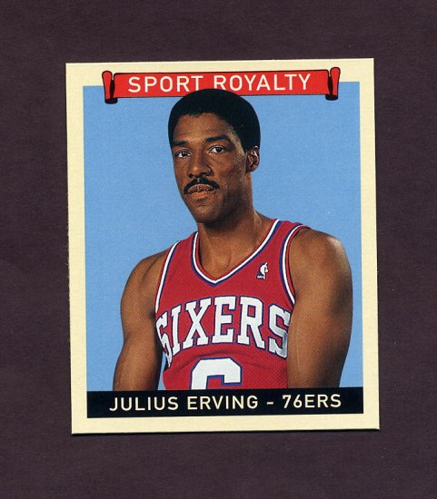 2008 Upper Deck Goudey Baseball Mini Blue Backs #288 Julius Erving SR - Philadelphia 76ers