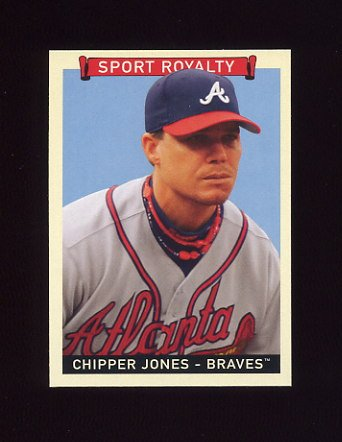 2008 Upper Deck Goudey Baseball #281 Chipper Jones SR SP - Atlanta Braves
