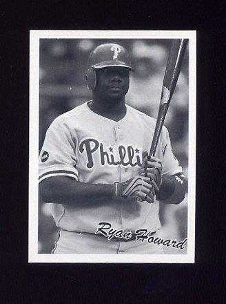 2008 Upper Deck Goudey Baseball #269 Ryan Howard 36 BW SP - Philadelphia Phillies