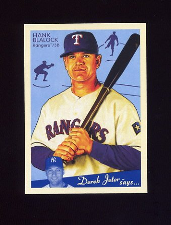 2008 Upper Deck Goudey Baseball #184 Hank Blalock - Texas Rangers