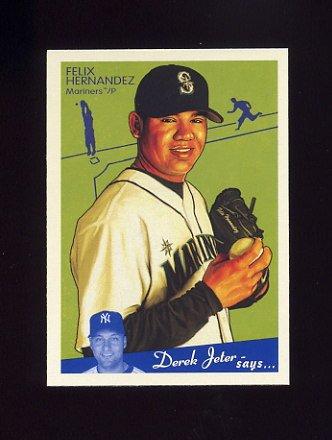 2008 Upper Deck Goudey Baseball #166 Felix Hernandez - Seattle Mariners