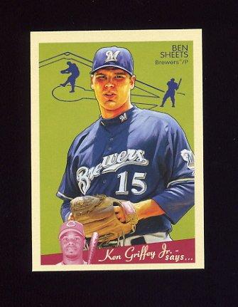2008 Upper Deck Goudey Baseball #107 Ben Sheets - Milwaukee Brewers