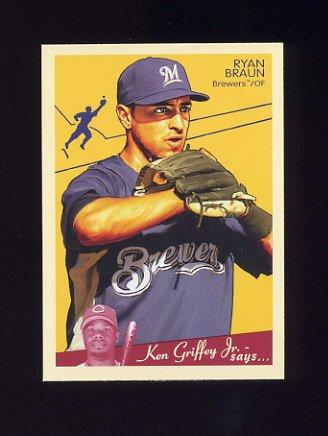 2008 Upper Deck Goudey Baseball #105 Ryan Braun - Milwaukee Brewers