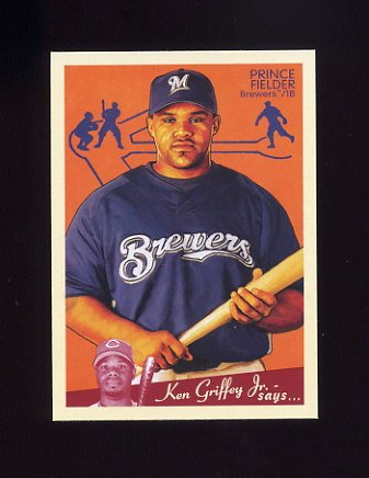 2008 Upper Deck Goudey Baseball #104 Prince Fielder - Milwaukee Brewers