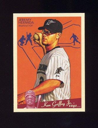 2008 Upper Deck Goudey Baseball #078 Jeremy Hermida - Florida Marlins
