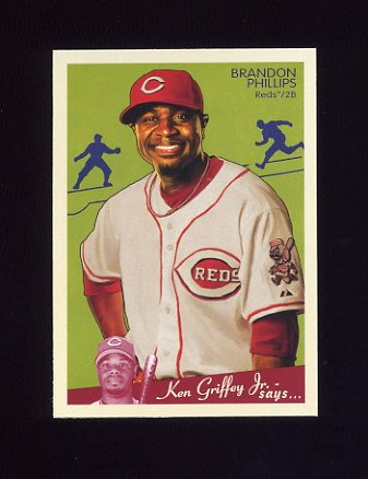 2008 Upper Deck Goudey Baseball #052 Brandon Phillips - Cincinnati Reds