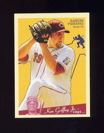 2008 Upper Deck Goudey Baseball #051 Aaron Harang - Cincinnati Reds