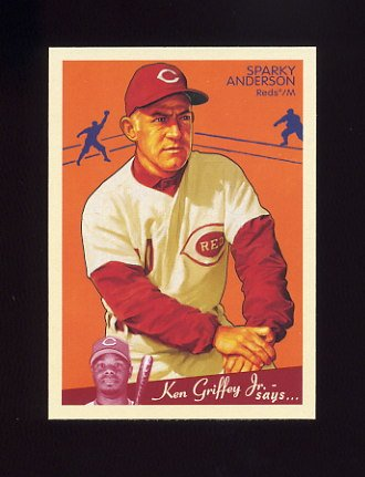2008 Upper Deck Goudey Baseball #046 Sparky Anderson - Cincinnati Reds