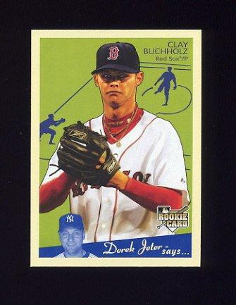 2008 Upper Deck Goudey Baseball #027 Clay Buchholz RC - Boston Red Sox