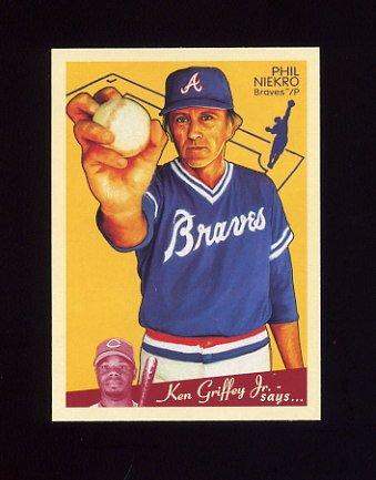 2008 Upper Deck Goudey Baseball #010 Phil Niekro - Atlanta Braves