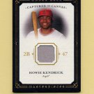 2008 UD Masterpieces Baseball Captured on Canvas #HK Howie Kendrick - Angels Game-Used Jersey