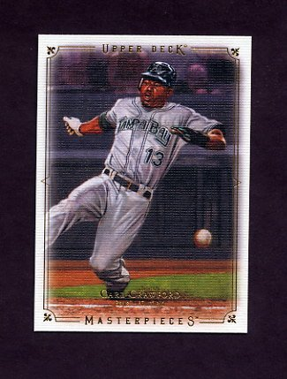 2008 UD Masterpieces Baseball #86 Carl Crawford - Tampa Bay Rays