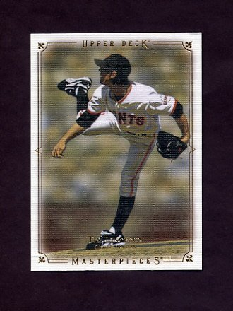 2008 UD Masterpieces Baseball #80 Tim Lincecum - San Francisco Giants