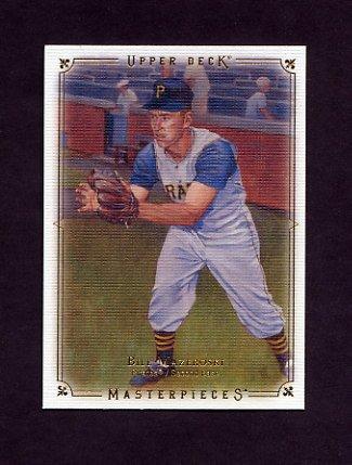 2008 UD Masterpieces Baseball #72 Bill Mazeroski - Pittsburgh Pirates