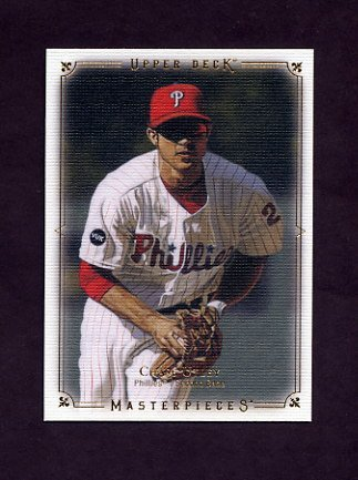 2008 UD Masterpieces Baseball #69 Chase Utley - Philadelphia Phillies