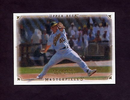 2008 UD Masterpieces Baseball #68 Rich Harden - Oakland A's