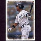 2008 UD Masterpieces Baseball #62 Alex Rodriguez - New York Yankees