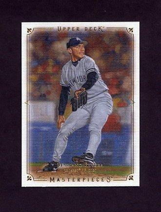 2008 UD Masterpieces Baseball #61 Mariano Rivera - New York Yankees