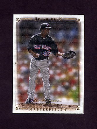 2008 UD Masterpieces Baseball #57 Pedro Martinez - New York Mets