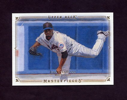 2008 UD Masterpieces Baseball #55 Johan Santana - New York Mets