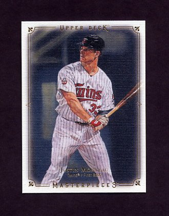 2008 UD Masterpieces Baseball #51 Justin Morneau - Minnesota Twins